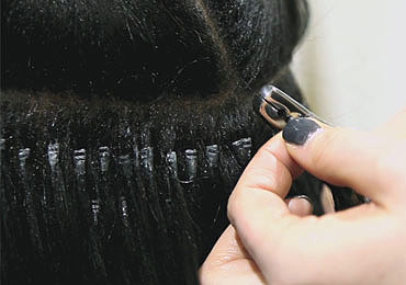Transformation Connections Micro Rings Hair Extensions to Afro Hair